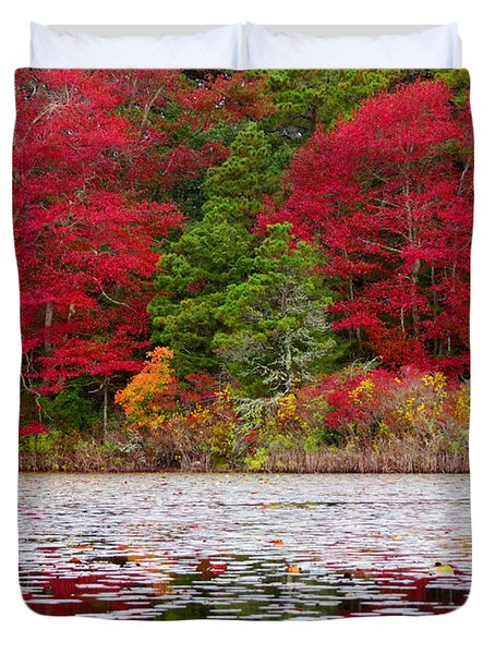 Duvet Cover featuring the photograph Cape Cod Autumn by Dianne Cowen