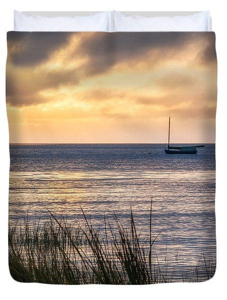 Cape Cod Bay Square Duvet Cover by Bill Wakeley