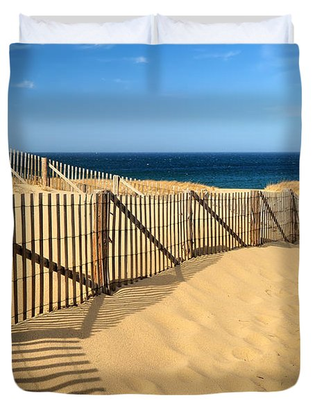 Duvet Cover featuring the photograph Cape Cod Beach by Mitchell R Grosky
