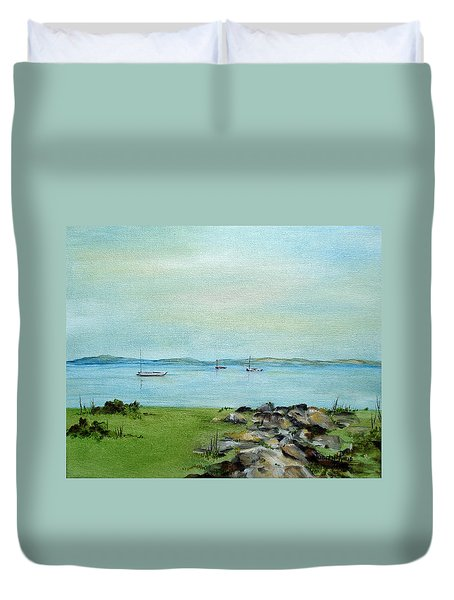Cape Cod  Boats Duvet Cover by Judith Rhue