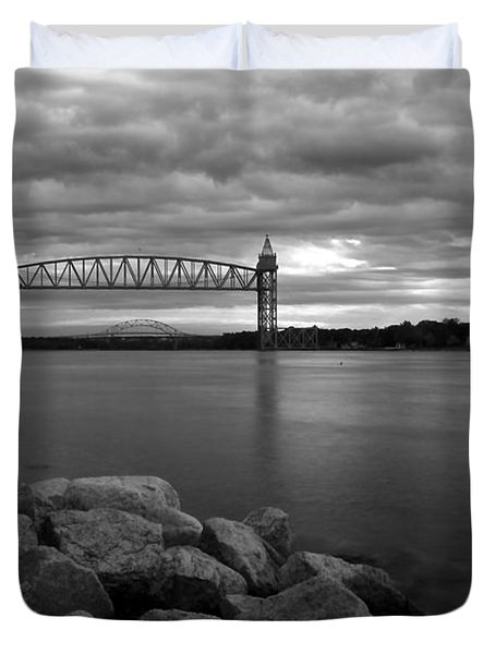 Cape Cod Canal Train Bridge Duvet Cover