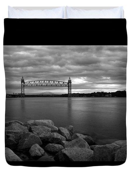 Cape Cod Canal Train Bridge Duvet Cover