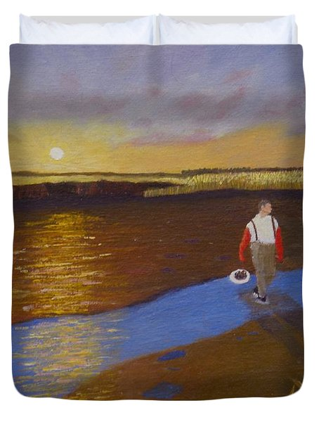 Cape Cod Clamming Duvet Cover