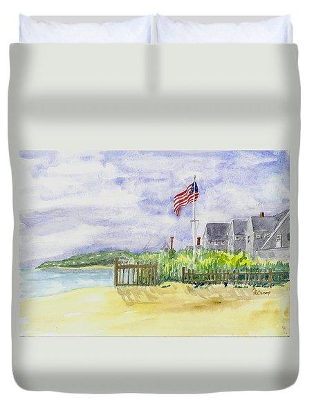 Massachusetts -cape Cod Cottages Duvet Cover