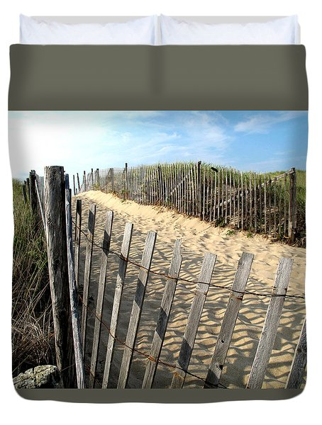 Cape Cod Dune Fencing Duvet Cover