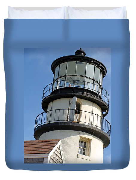 Duvet Cover featuring the photograph Cape Cod Lighthouse by Ira Shander