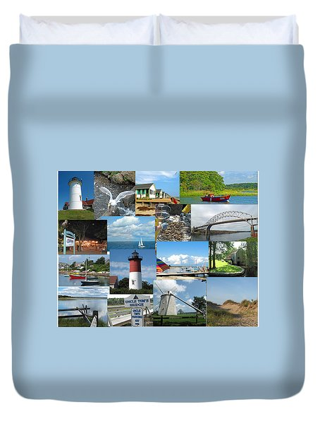 Cape Cod Vacation Land Duvet Cover by Barbara McDevitt