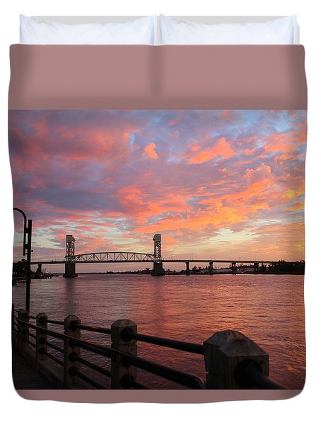 Cape Fear Bridge Duvet Cover
