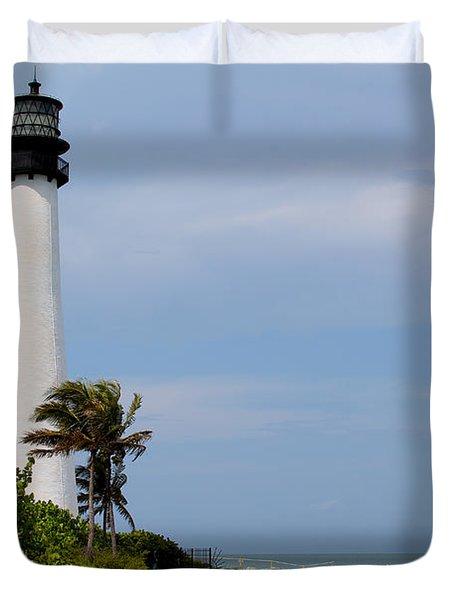 Cape Florida Beach Duvet Cover by Carey Chen