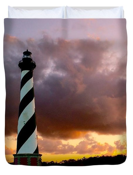 Cape Hatteras Sunset Duvet Cover