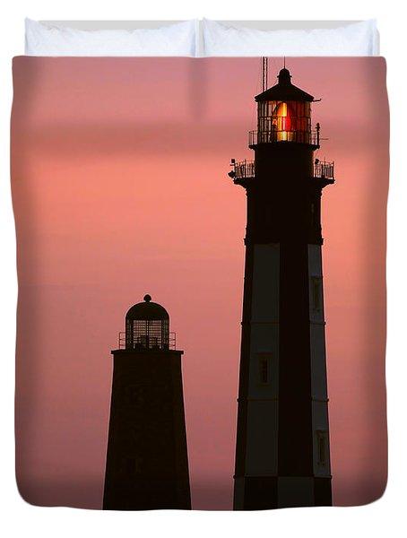 Cape Henry Lighthouses  Duvet Cover