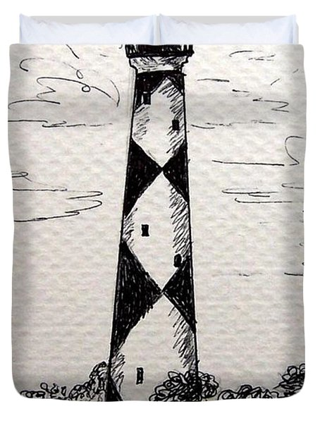 Cape Lookout Lighthouse Nc Duvet Cover