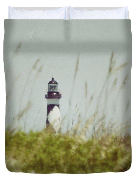Cape Lookout Lighthouse - Vintage Duvet Cover