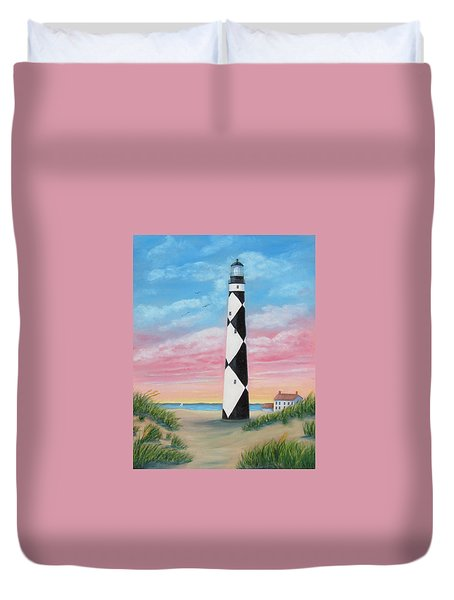 Cape Lookout Sunset Duvet Cover