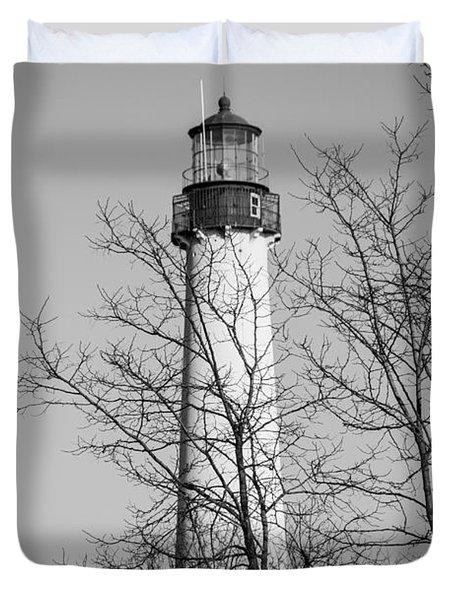 Cape May Light B/w Duvet Cover