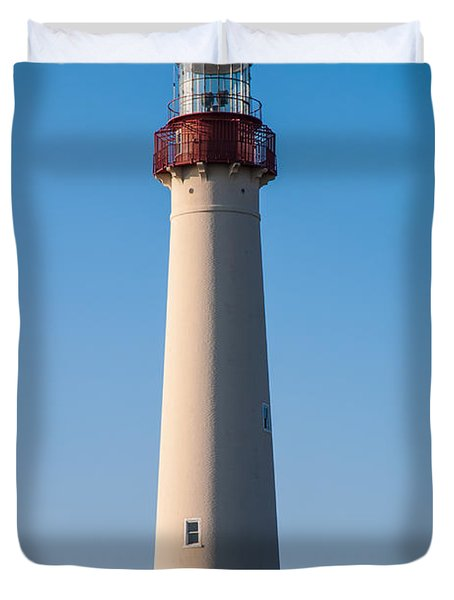 Cape May Lighthouse Duvet Cover by Jennifer Ancker