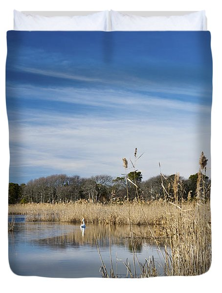 Cape May Marshes Duvet Cover by Jennifer Ancker