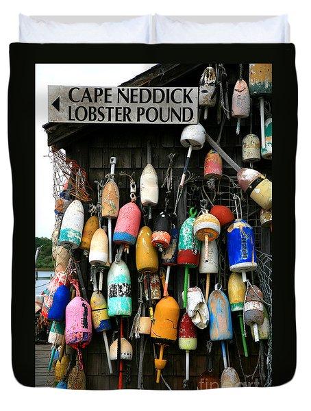 Cape Neddick Lobster Pound Duvet Cover