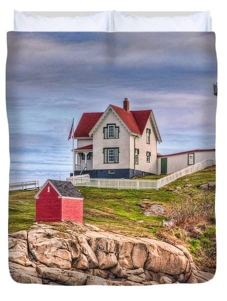 Cape Neddick Nubble Lighthouse II Duvet Cover by Clarence Holmes