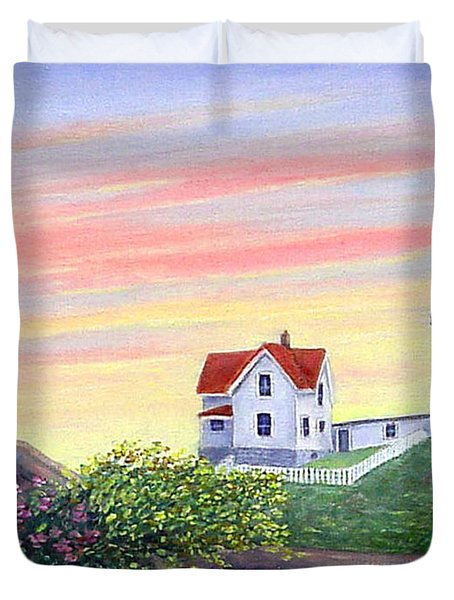 Cape Neddick Sunrise Duvet Cover by Fran Brooks