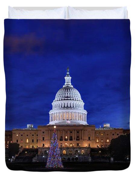 Capitol Christmas - 2013 Duvet Cover