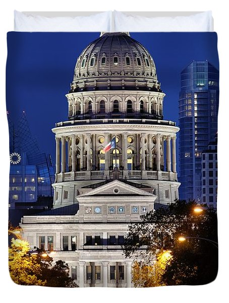 Capitol Of Texas Duvet Cover