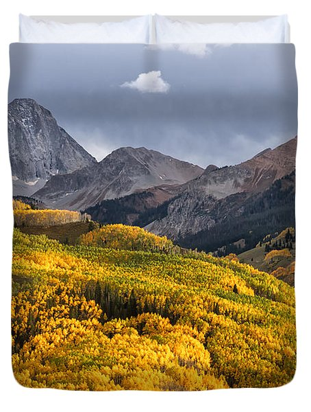 Capitol Peak In Snowmass Colorado Duvet Cover