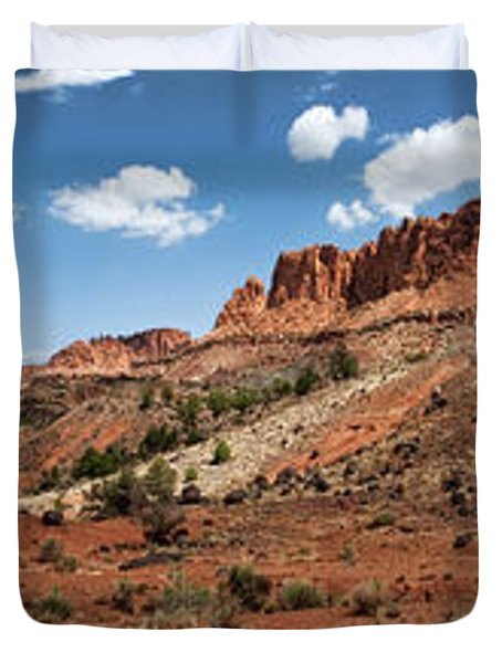 Duvet Cover featuring the photograph Capitol Reef Panorama No. 1 by Tammy Wetzel