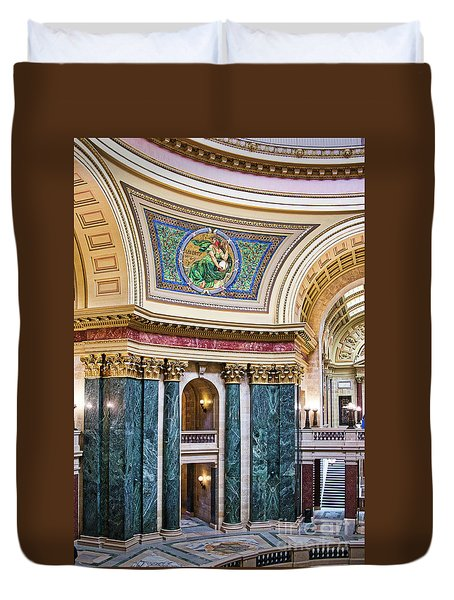 Capitol - Madison - Wisconsin Duvet Cover
