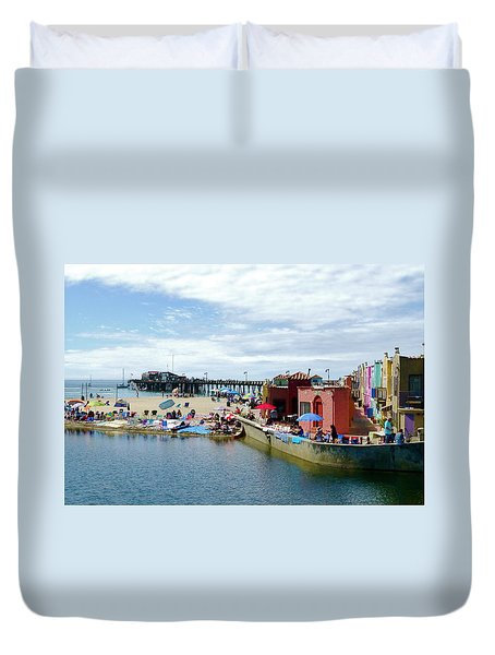 Capitola Begonia Festival Weekend Duvet Cover by Amelia Racca