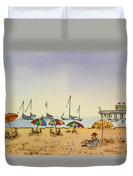 Capitola - California Sketchbook Project  Duvet Cover by Irina Sztukowski