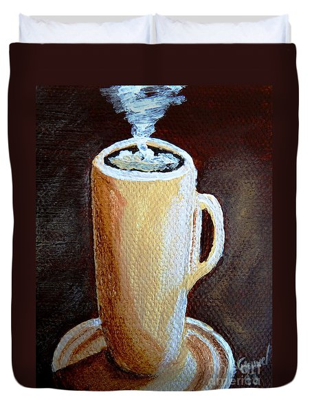 Cappuccino 3 Duvet Cover by Christine Huwer