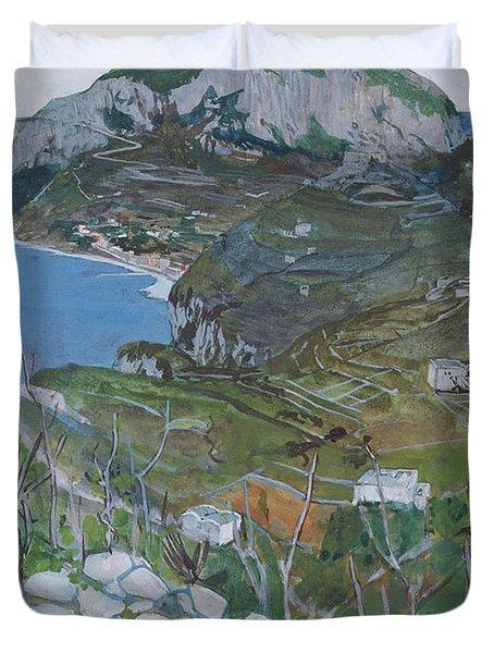 Capri, C.1904 Duvet Cover by Maurice Greiffenhagen