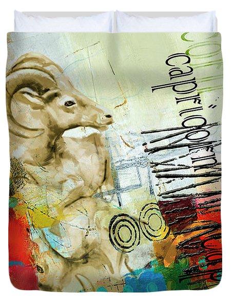 Capricorn Star Duvet Cover by Corporate Art Task Force