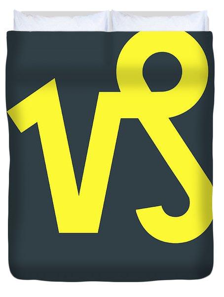 Capricorn Zodiac Sign Yellow Duvet Cover