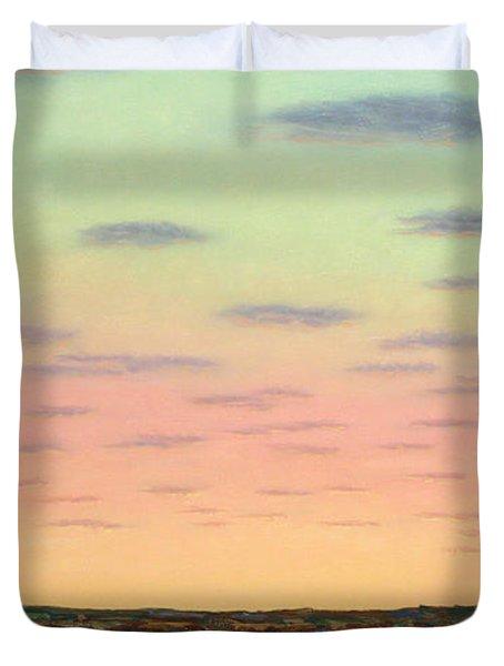 Caprock Sunrise Duvet Cover by James W Johnson