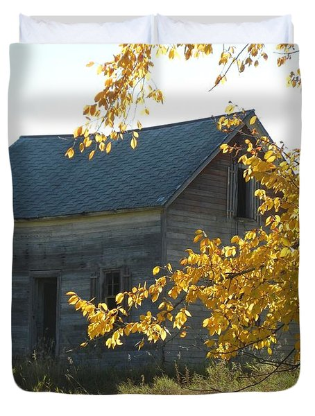 Duvet Cover featuring the photograph Captain Ed's Homestead by Penny Meyers