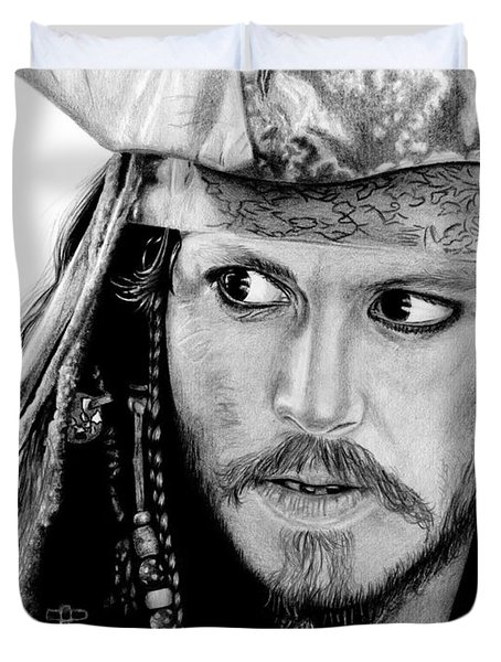 Captain Jack Sparrow Duvet Cover by Kayleigh Semeniuk