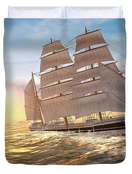 Captain Larry Paine Clippership Duvet Cover
