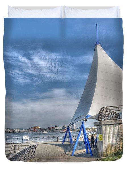 Captain Scott Exhibition Sails Duvet Cover by Steve Purnell