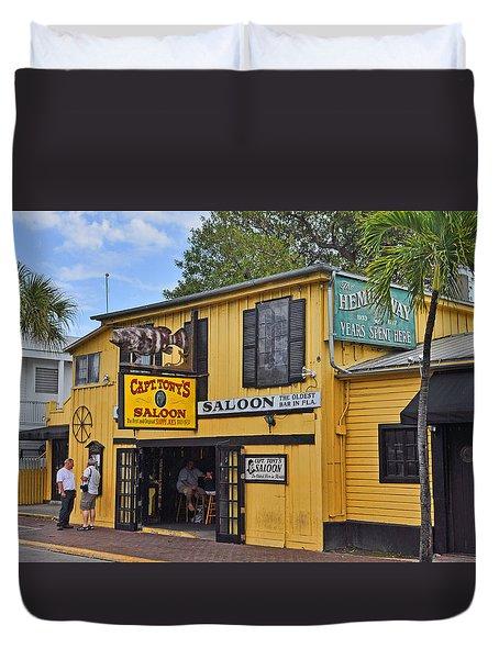 Captain Tony's Saloon Duvet Cover