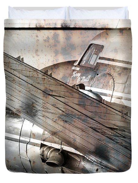 Duvet Cover featuring the photograph Captain's Flight by Steven Bateson