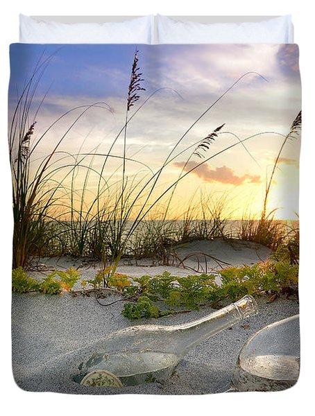 Captiva Sunset Duvet Cover by Jon Neidert