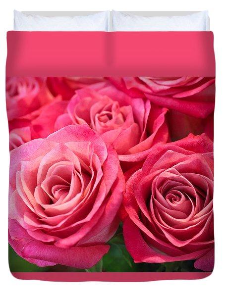 Capturing A Bouquet Duvet Cover