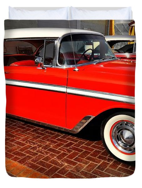Car - Bel Air - Red Duvet Cover by Liane Wright