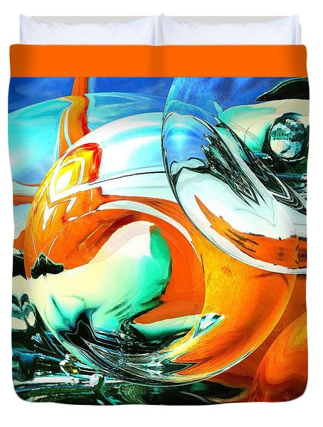 Car Fandango - Modern Art Duvet Cover