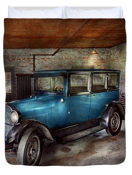 Car - Granpa's Garage  Duvet Cover by Mike Savad