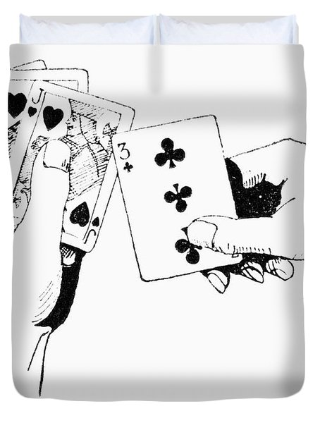 Card Playing Duvet Cover
