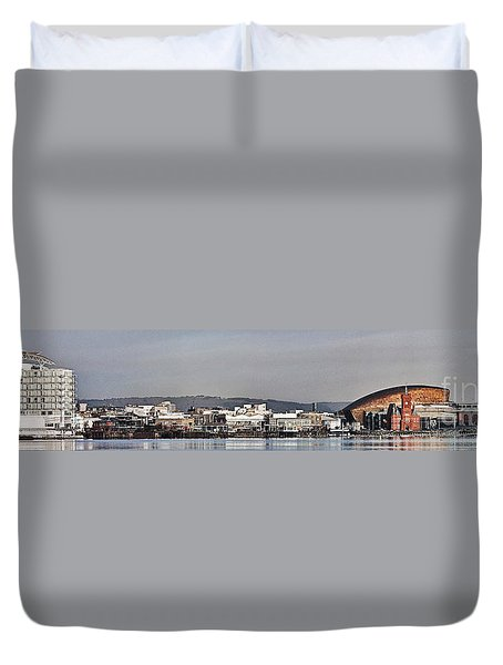 Cardiff Bay Panorama 2 Duvet Cover