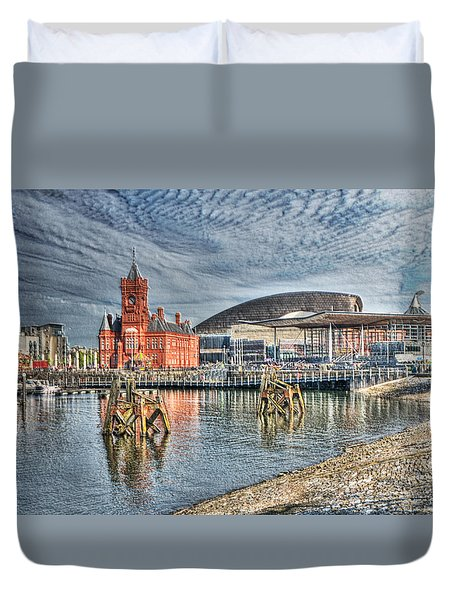 Cardiff Bay Textured Duvet Cover